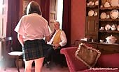 Schoolgirl Trisha Caught Short