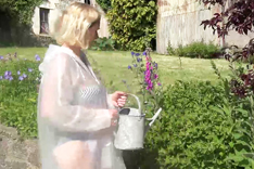 Molly Watering her Plants