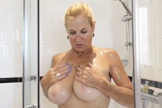 Molly in the Shower
