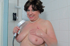 Auntie Trisha in the Shower