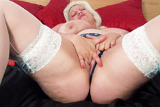 Miss Gina George Playing on the Bed