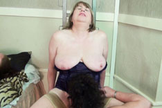 Trisha and Busty Kim Playing on The Chair